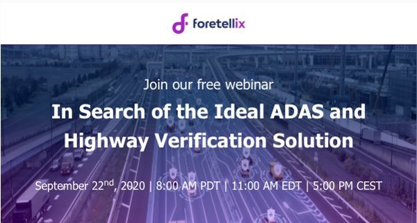 Join our webinar: In search of the ideal ADAS & Highway verification solution <Br> 参加我们的网络研讨会:寻找理想的ADAS和公路验证解决方案